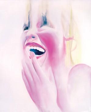 "BETTINA SELLMAN Laugh 1, oil on canvas, 167.6x127 cm, 66x50 "", 2000"