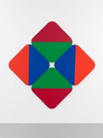 "Leon Polk Smith, ""Constellation C""(1969), 95″ x 95"